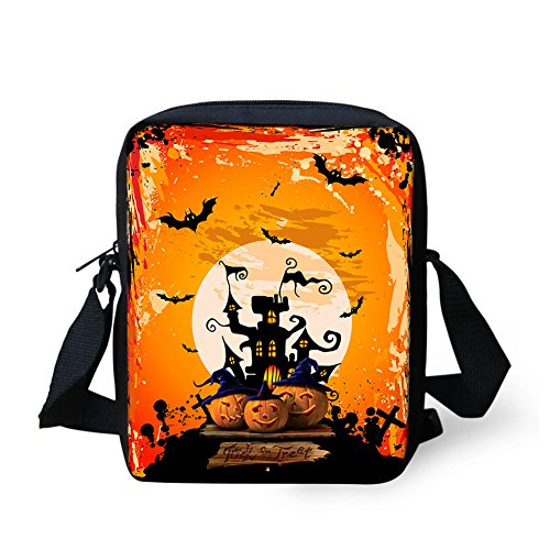 TUOKING Halloween Messenger Bag Music Theme Party Shoulder Samll Bag (Music (Halloween Music Theme)