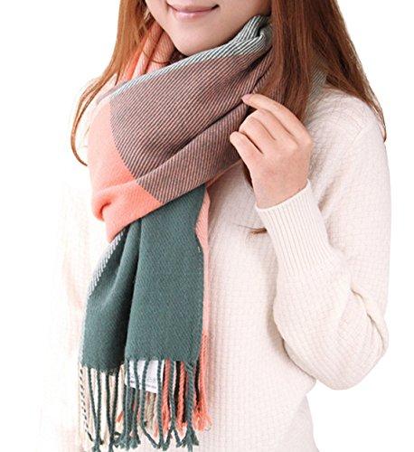 Yidarton Winter Blanket Scarf Tartan