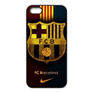 iphone5 5s case , Barcelona Football iphone5 5s Cell phone case Black-YYTFG-17601