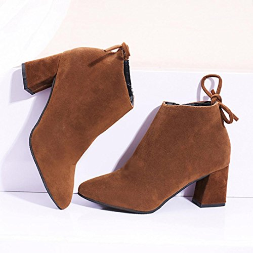Stivali Da Donna Gotd Stivali Quadrati Con Tacco In Pizzo Stivali Con Tacco Martin Boots (us: 5.5, Nero) Kaki
