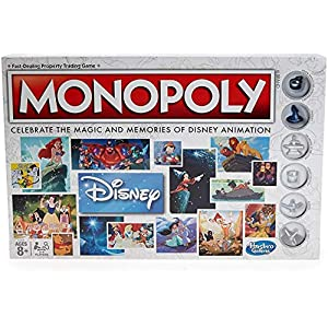 Monopoly Hasbro Gaming Disney Animation Edition Game