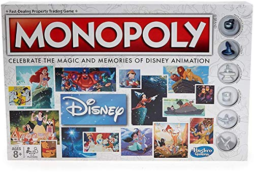 Hasbro Gaming Monopoly: Disney Animation Edition Game (Board Disney Theme Games)