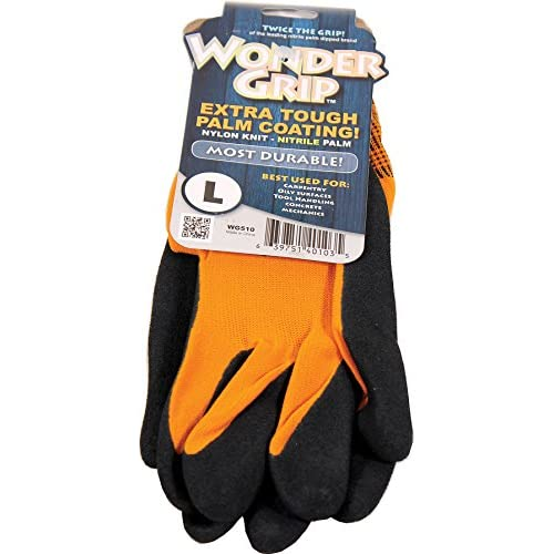Wonder Grip Wg510l Large Sienna Wonder Grip Nitrile Palm Gloves