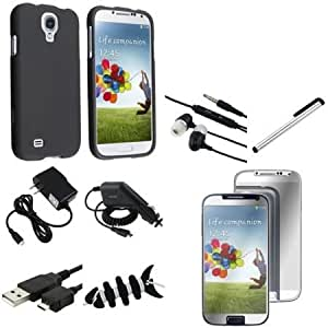 Cerhinu Everydaysource Compatible with Samsung? Galaxy S4 IV i9500 10 Accessory Black Case + 3x Mirror Screen Protector...