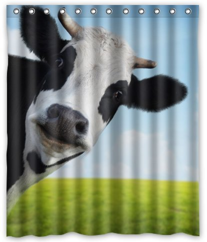 Shower Curtain Standard Store Custom Milk Cow Pasture Meadow Grassland Waterproof 60