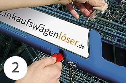 Einkaufswagenauslöser,Einkaufswagenchip grün Metall 10 Stück mit Schlüsselschutz