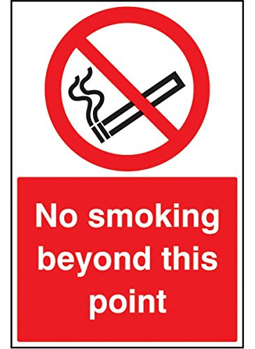 Caledonia Signs 58741 No Smoking Beyond This Point Floor Graphic Label 400 mm x 600 mm