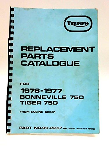 Triumph Replacement Parts Catalogue: For 1976 - 1977 Bonneville 750 Tiger 750