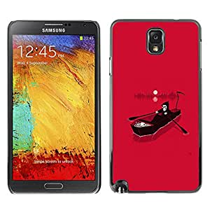 Shell-Star Art & Design plastique dur Coque de protection rigide pour Cas Case pour SAMSUNG Galaxy Note 3 III / N9000 / N9005 ( Pink Death Grim Reaper River Hell )