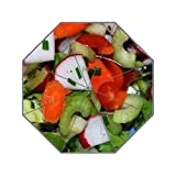green lettuce vegetable salad Custom Umbrella