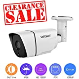 [2017 Updated] POE IP Camera, SAFEVANT 1080P HD Outdoor POE Camera with 65ft Night Vision and IP66 Waterproof IP Security Camera