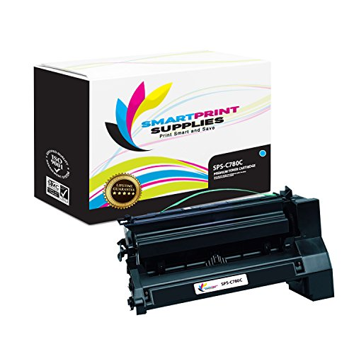 (Smart Print Supplies Compatible C780 C782X1CG Cyan Extra High Yield Toner Cartridge Replacement for Lexmark C770 C772 C780 C782 X780 X782 Printers (15,000 Pages))