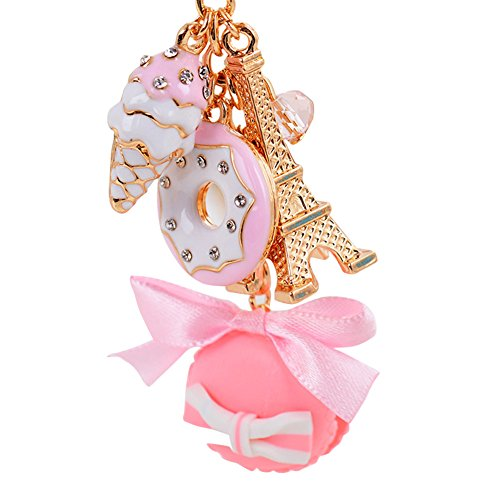 Bluelans Eiffel Tower Keychain Macaroons Sweets Keychain Key Holder ()
