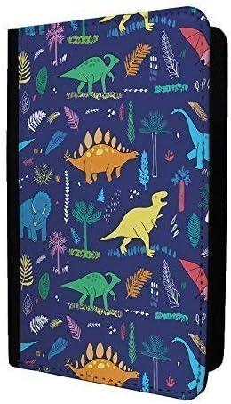 Dinosaurs Blue White Reptile Jungle Passport Holder Case Cover S673
