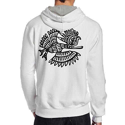 Xianliuli Ancient Mexico Motif Men's Fashion Creative Casual Wear Cap With No Pocket Hoodie XXL (Motive Boatneck)