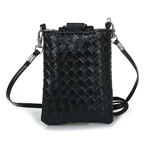 strap Purse Leather Nero TOOGOO PU Woman Purse Purse bag Knitting to Black R shoulder Handbag xwPanUnSq