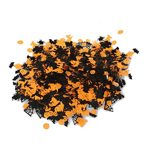 Amosfun Paper Confetti Pumpkin Table Throwing Confetti Witch Bat Spider Web Spider for Halloween Party 1 Pack 30g