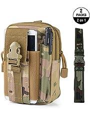 Bolsa de Tácticas Sistema Molle + Cinturón Táctico, 2 EN 1 Bolso Cintura Militares Macuto Tactical Monedero con Cangurera Riñonera, Pouch de Supervivencia Equipo Escalada Senderismo al Aire Libre