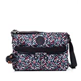 Kipling Women's Angie Crossbody Bag, Adjustable Shoulder Strap, Zip Closure, Glistening Poppy Blue