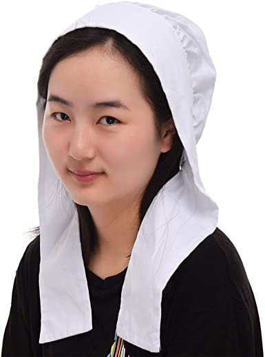 GRACEART Womens Mob Cap Bonnet Colonial Costume Accessory 100/% Cotton
