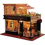 Flever Dollhouse Miniature DIY House Kit Manual Creative With Furniture for Romantic Artwork Gift (Travel in Paris Cafe)