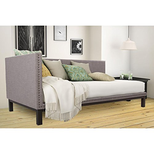 Mid Century Upholstered Modern Daybed (Day Lounge Bed)