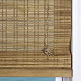 Arlo Blinds Cordless Tuscan Bamboo Roman Shades