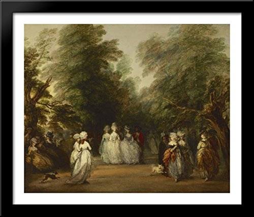The Mall in St. James's Park 34x28 Large Black Wood Framed Print Art by Thomas - Mall 34 St