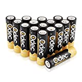 Odec AA Rechargeable Batteries, Deep Cycle 2450mAh Ni-MH 1.2V Battery Pack - 16 Pack
