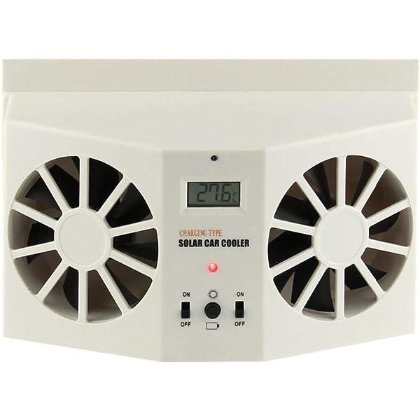 Black Solar Dual Fan Car Front//Rear Window Air Vent Cool Cooler Fan For Sale