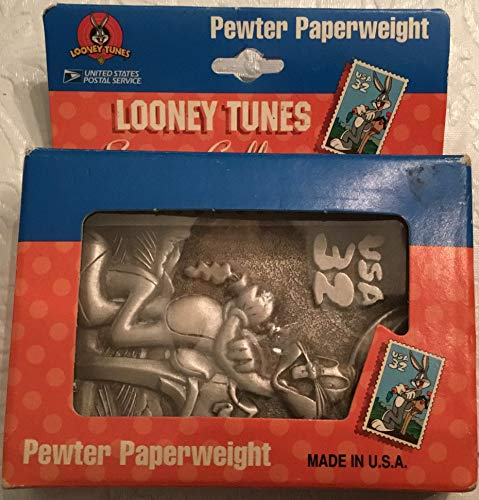 - Retro New/Old Looney Tunes Stamp Collection Bugs Bunny Pewter Paperweight