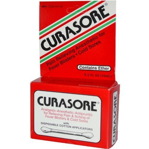 Curasore, Analgesic - Anesthetic - Antipruritic, Contains Ether, 0.5 f by S.S.S. Company
