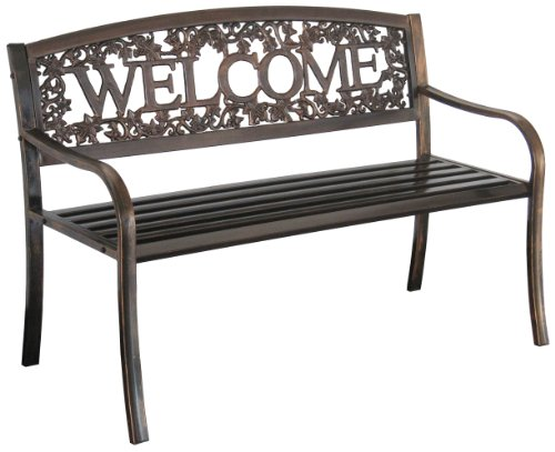 Prime Leigh Country Tx94101 Metal Welcome Outdoor Bench Gmtry Best Dining Table And Chair Ideas Images Gmtryco