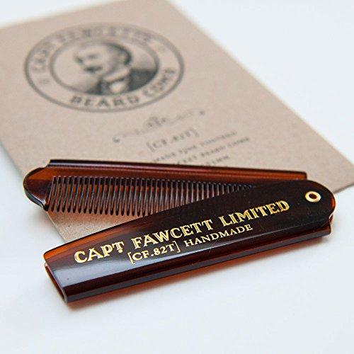 Captain Fawcett's Folding Pocket Beard Comb – CF.82T – Made in England