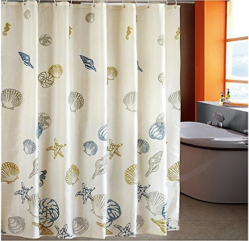 72 Quot Beach Sea Shower Curtain Fabric Ring Set Polyester