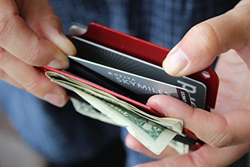 Holder Clear RIFD Slim Aluminum Plated Card Up 2 Men's cards Carbon Shielding Fiber Clip Money to Double Silver Wallet HuMn 6 6FSHwqx