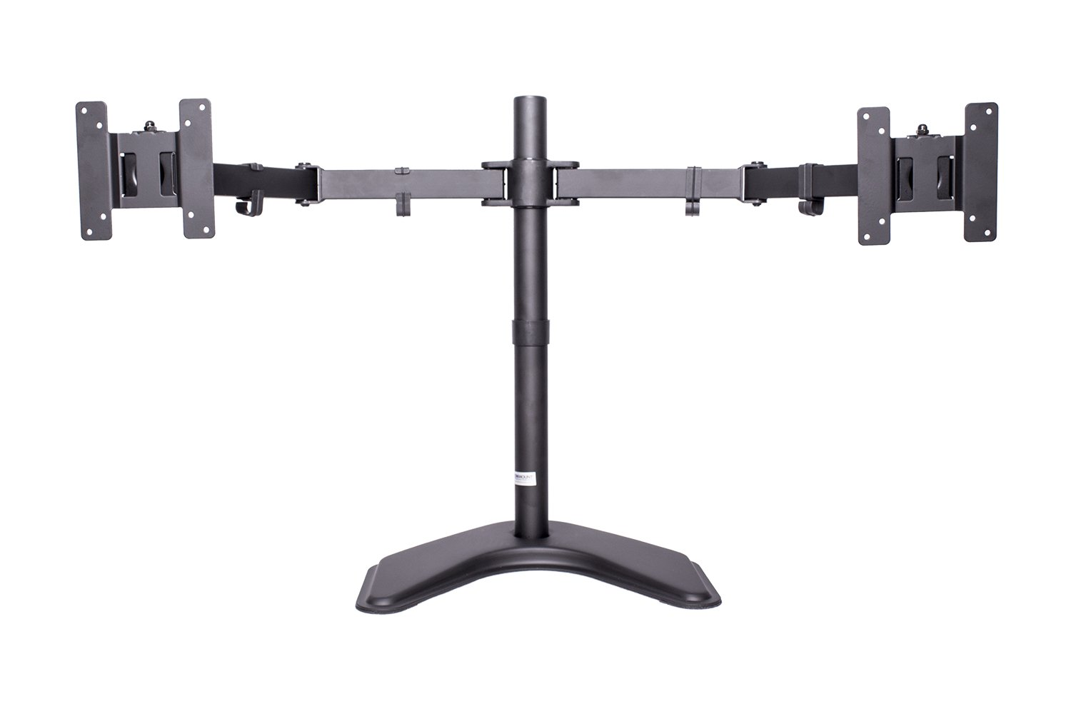 MonMount Dual LCD Free Standing Monitor Mount for Up to 24'' Displays (LCD-6460B-ECO), Black