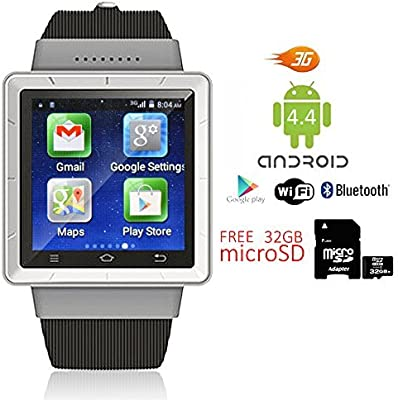 Indigi® Android 4.4 SmartWatch Teléfono 3 G + WiFi Bluetooth ...