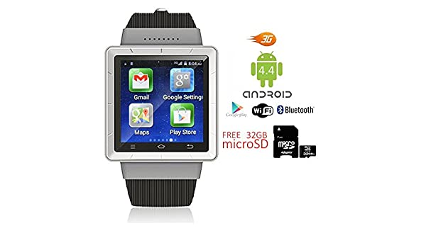 Indigi® Android 4.4 SmartWatch Teléfono 3 G + WiFi Bluetooth ...