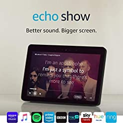 "Certified Refurbished Echo Show (2nd Gen) – Premium Sound and a Vibrant 10"" HD Screen – Black"