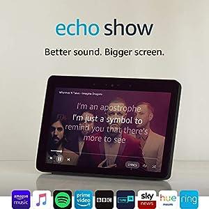 All-New Echo Show (2nd Gen), Black + Philips Hue White Bulb E27