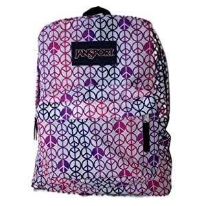 Jansport Superbreak Backpack Peace Sign