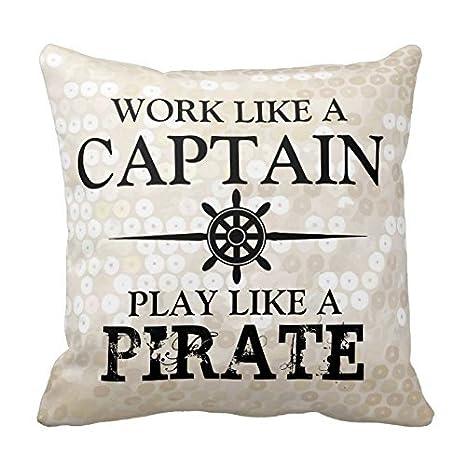 Trabajo como un capitán, Play como un pirata almohadas 1 ...