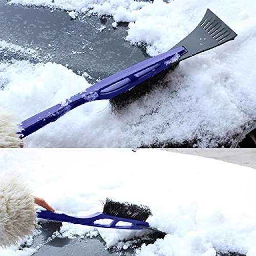Naladoo New Launch Car Vehicle Durable Snow Ice Scraper Snow Brush Shovel Removal for Winter Blue