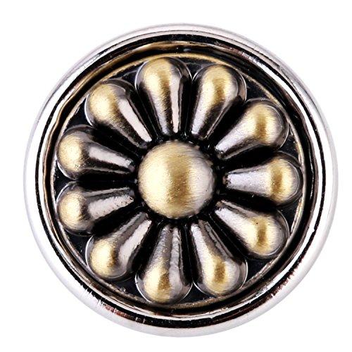 Morella ® pour petit click-button lot de 5 boutons pressions décoratifs motifs collection vintage de 12 mm de diamètre