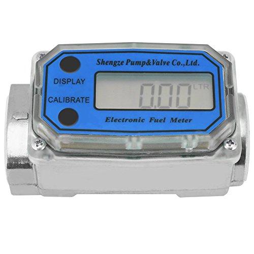 (Mini Digital Turbine Flowmeter Diesel Kerosene Gasoline Flow Meter Rotameter 15-120L 1