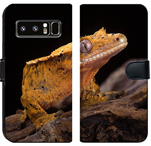Luxlady Samsung Galaxy Note 8 Flip Fabric Wallet Case Image ID: 20327086 Crested Gecko Nocturnal Native to New Caledonia One of The Most Beautifu