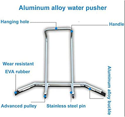 site cleaning equipment wiper tennis court scraper WNTHBJ Stainless steel base push rod ultra durable aluminum alloy lightweight and portable