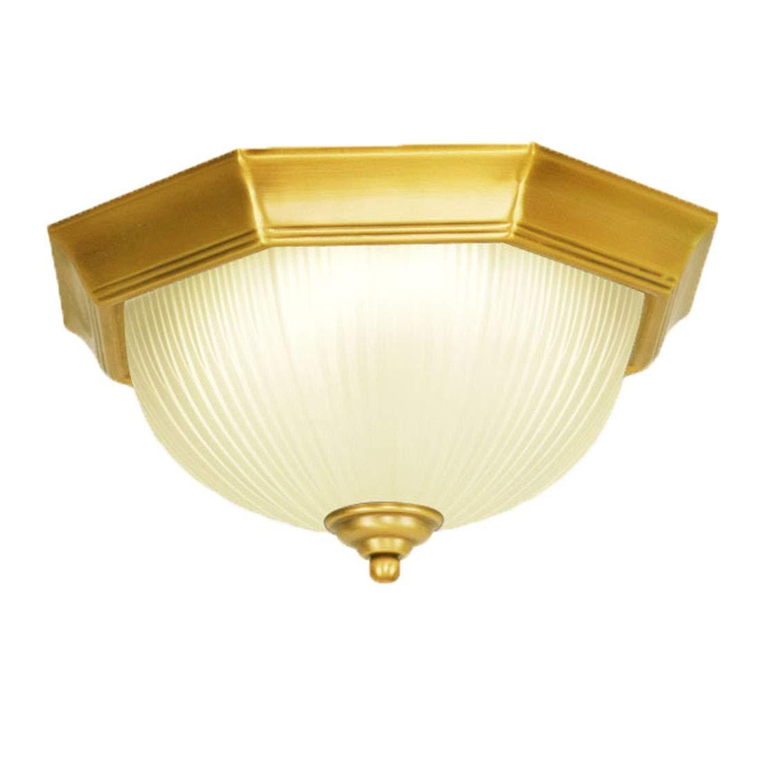 Meetyou Deckenlampe, einfache Balkon-KüchenschiffGang Flur zu Hause LED volle Kupfer achteckige Lampe