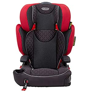 Graco Affix High back Booster Car Seat with ISOCATCH Connectors, Group 2/3 (4 to 12 Years Approx, 15-36 kg), Chili Spice